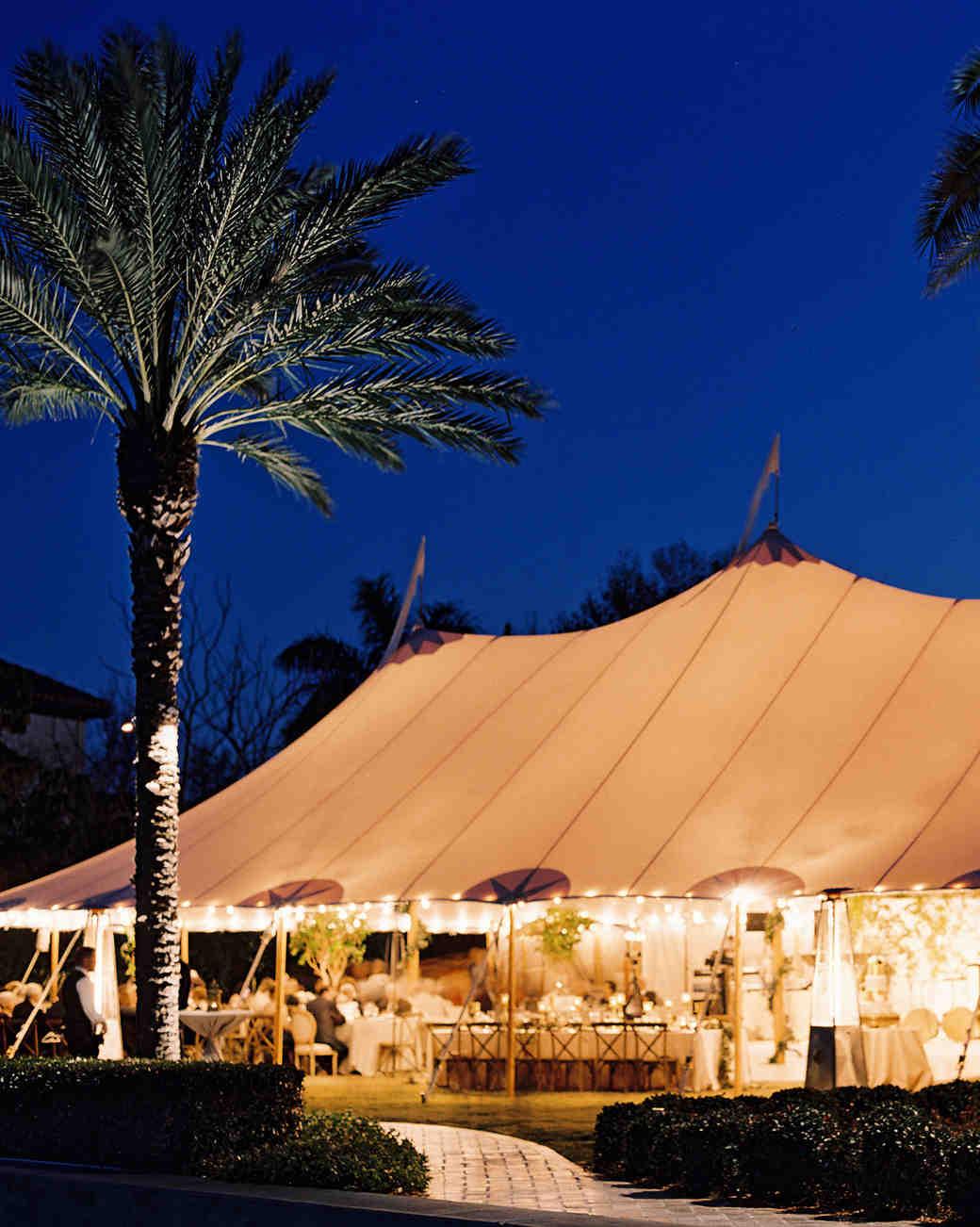 An Outdoor Tent Wedding