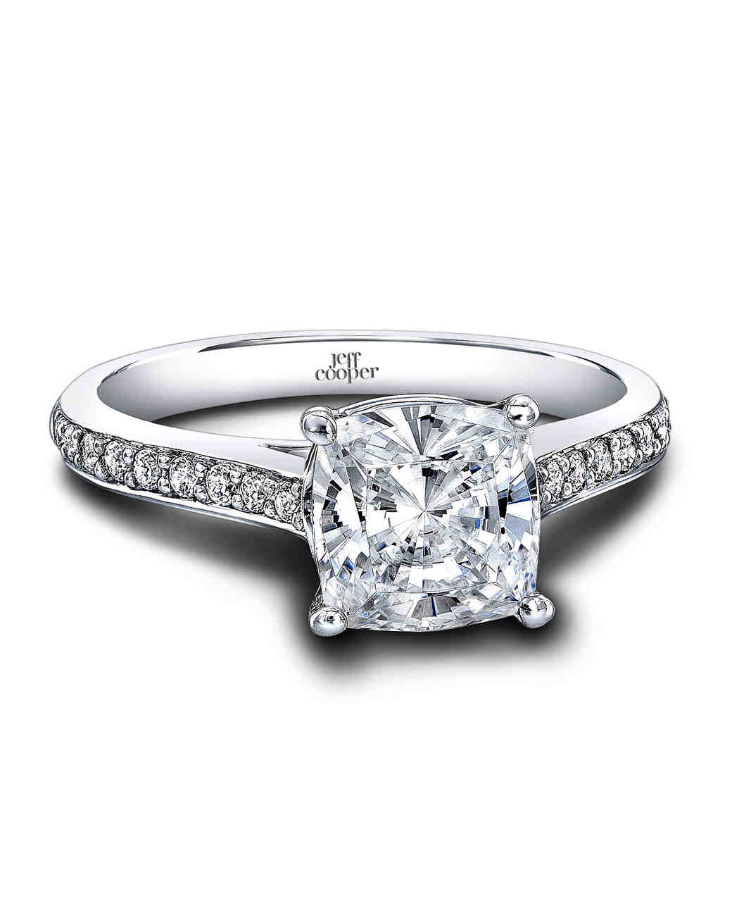 "Jeff Cooper Designs ""Caitlyn"" Cushion-Cut Diamond Engagement Ring"