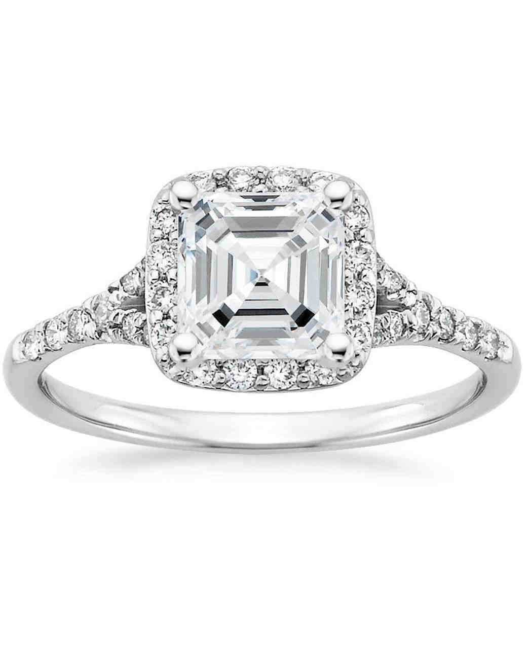 Image result for asscher cut diamond rings