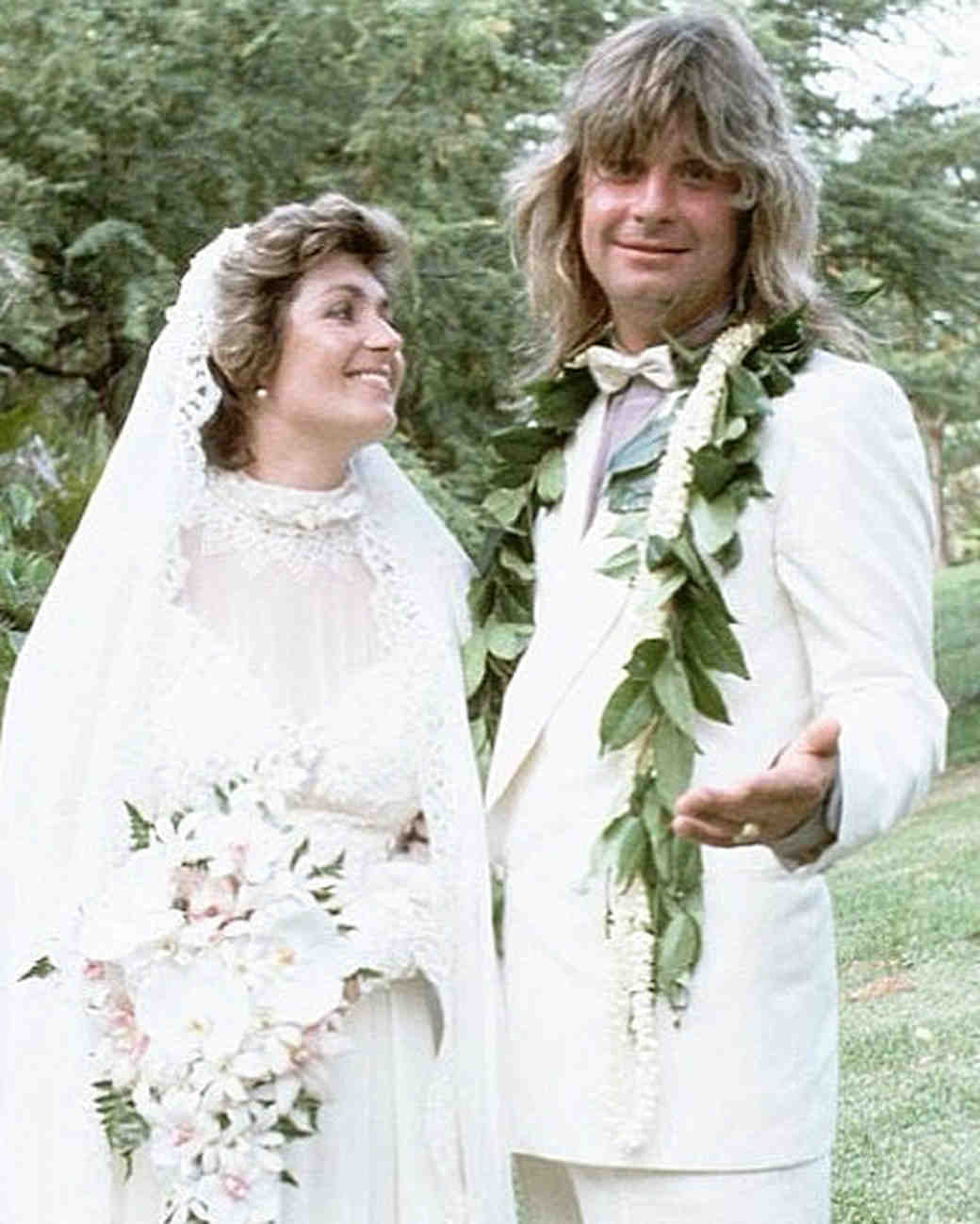Sharon and Ozzy Osbourne Wedding Photo