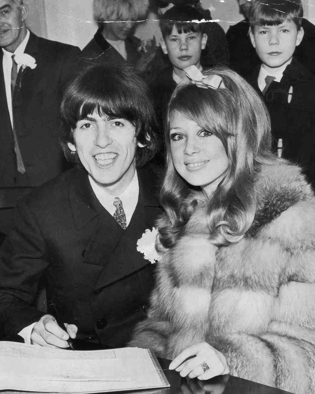 Pattie Boyd and George Harrison Wedding Photo