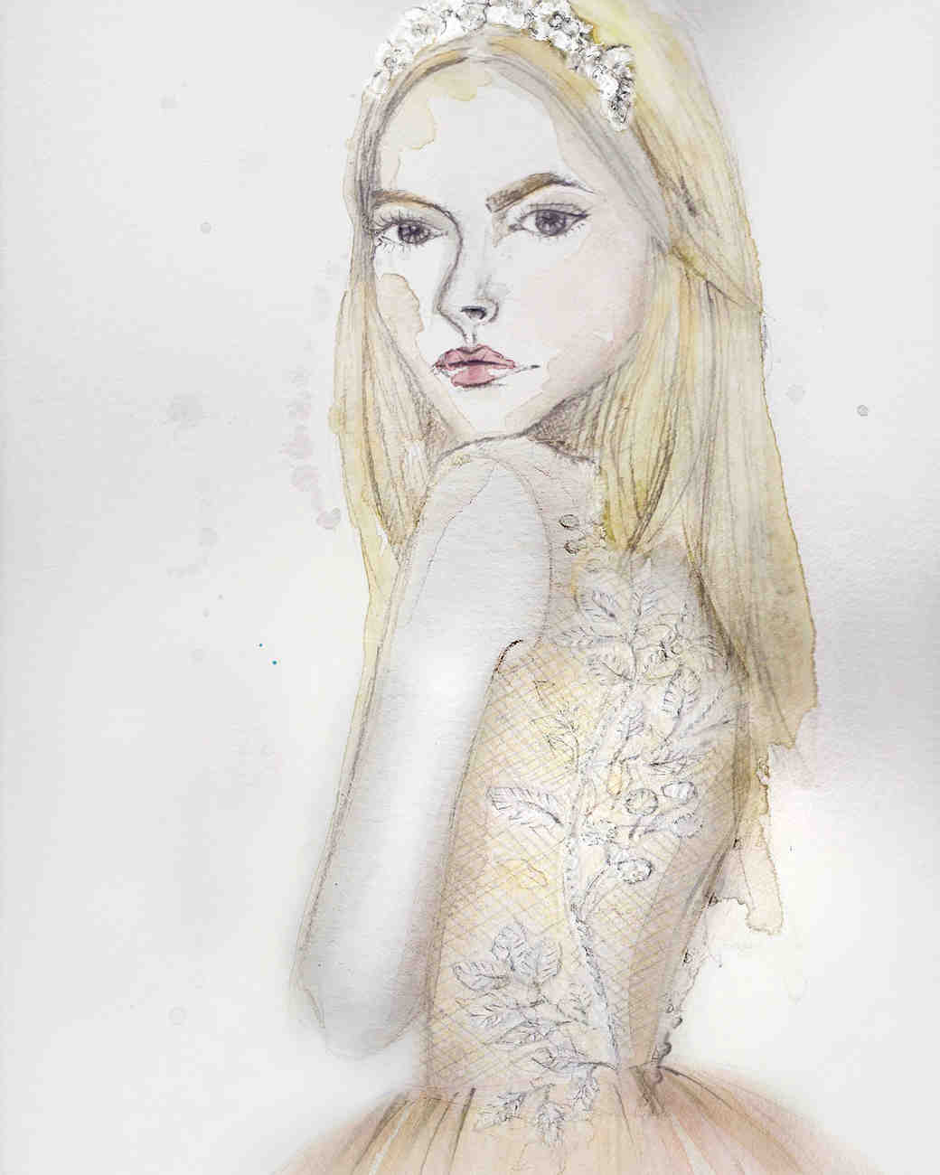 Kaviar Gauche Fall 2017 Exclusive Wedding Dress Sketch