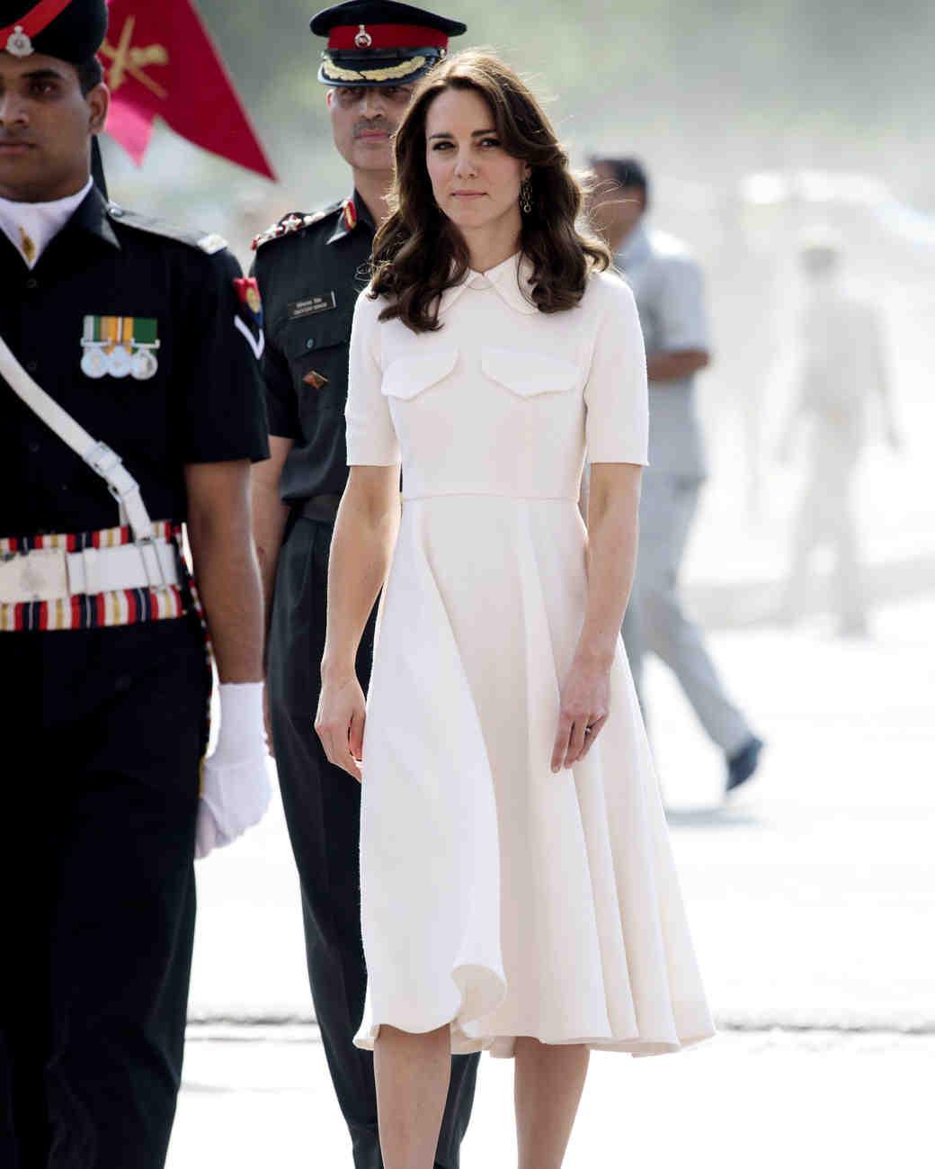 kate middleton white dress high collar