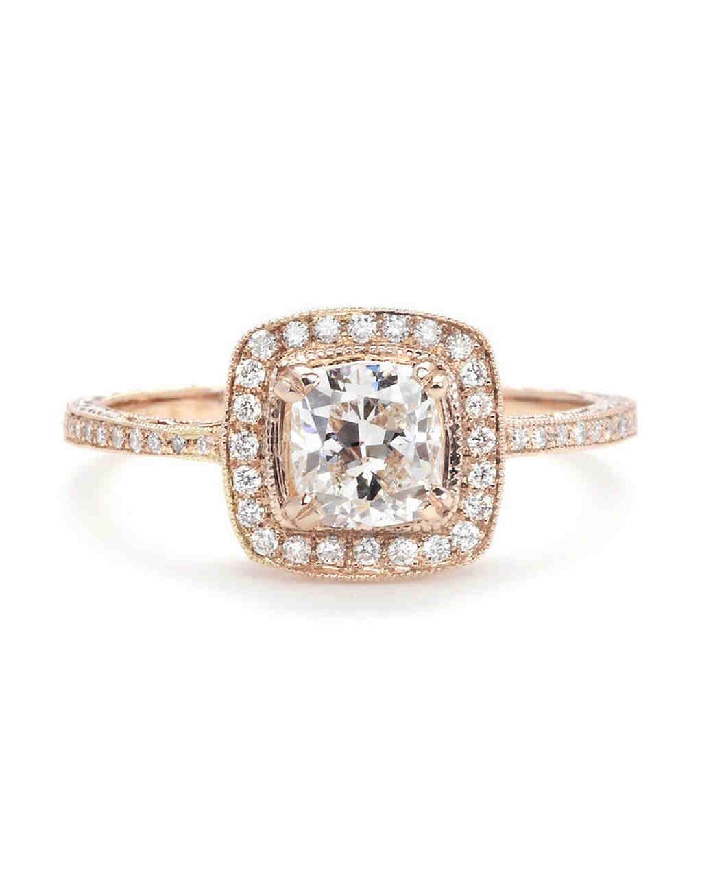 Beverly K Rose Gold Cushion-Cut Diamond Engagement Ring