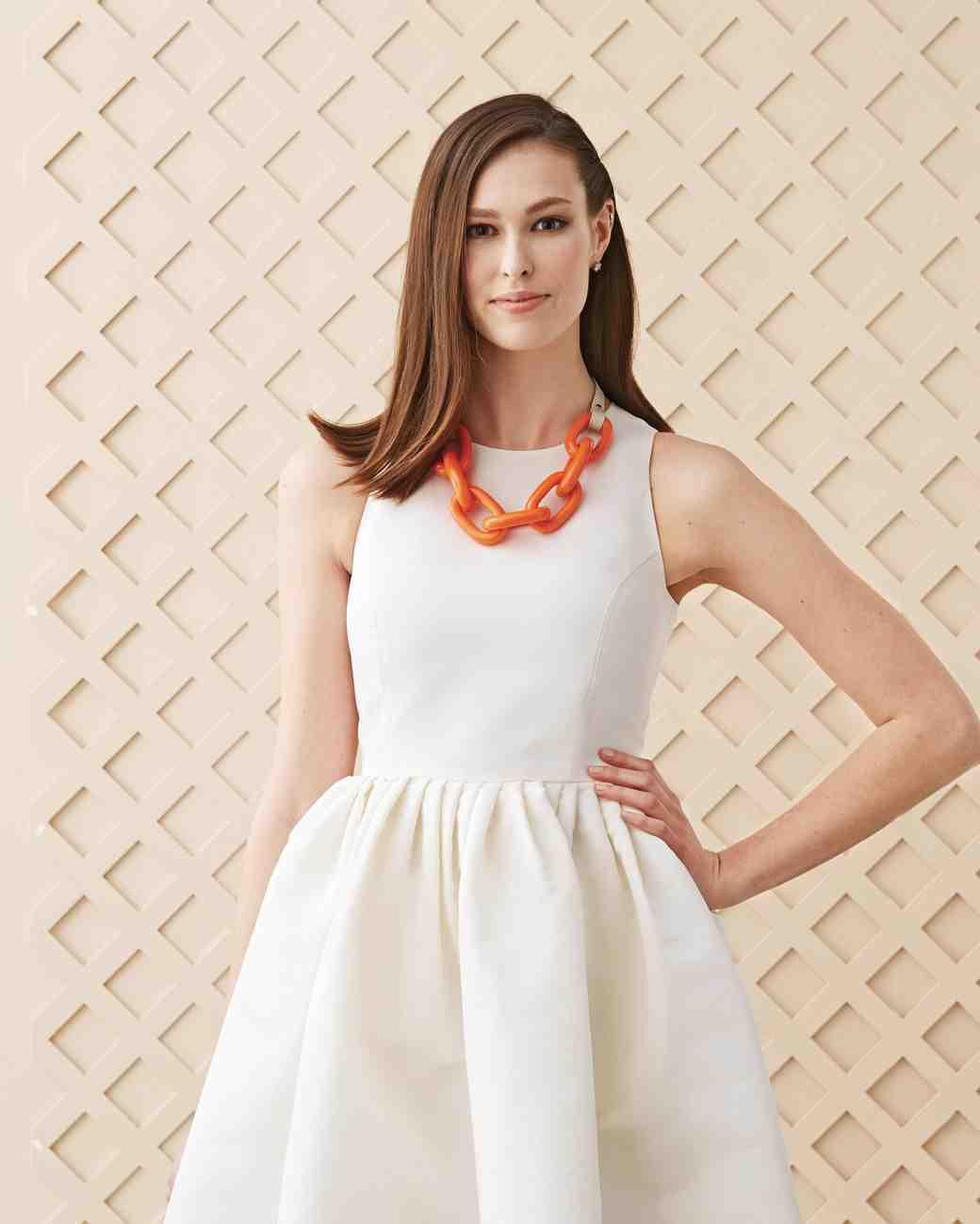 Orange Resin Link Necklace