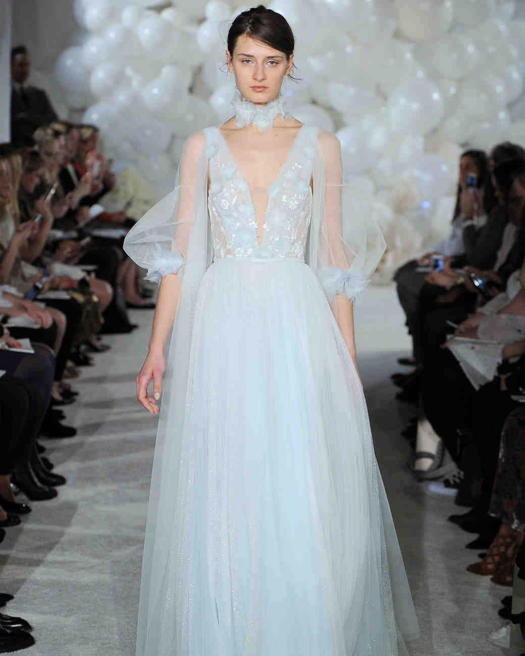 mira zwillinger blue wedding dress spring 2018 tulle