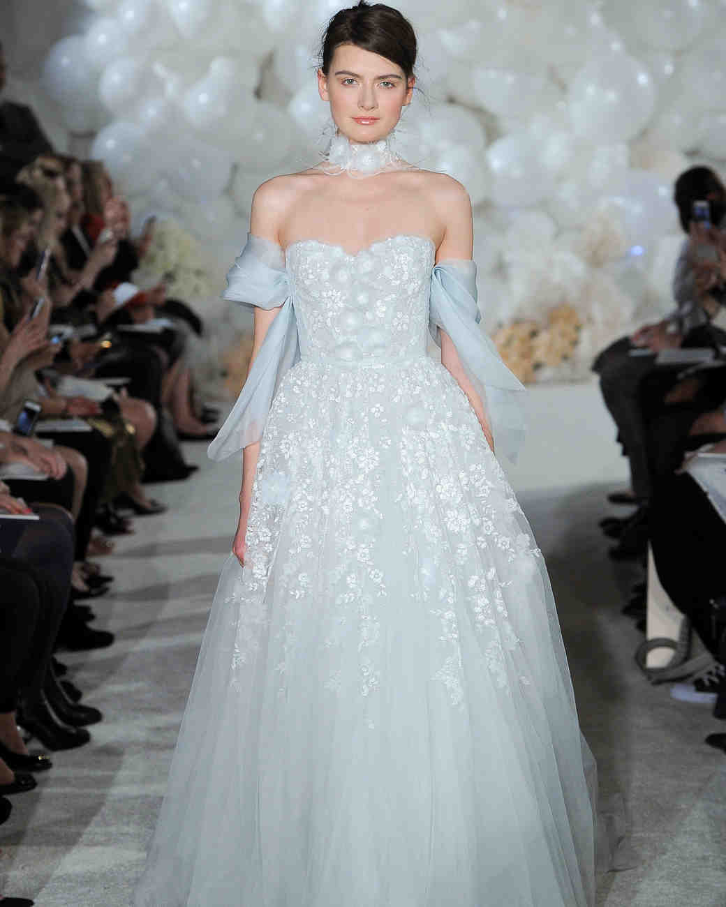 mira zwillinger blue wedding dress spring 2018 tulle off-the-shoulder
