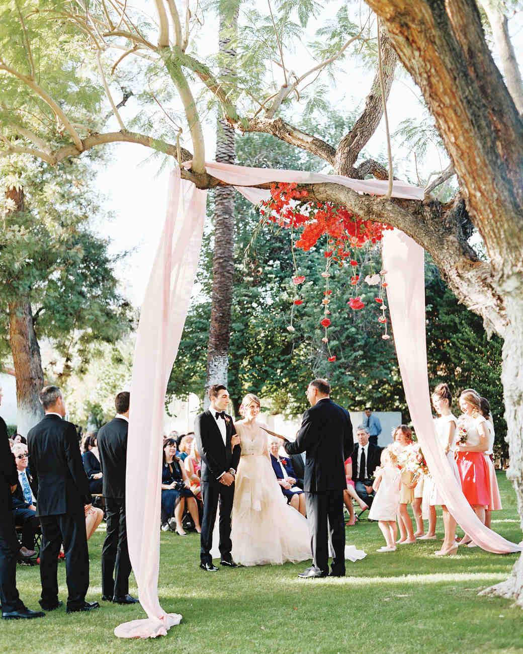 Flowing Fabric Wedding Canopy