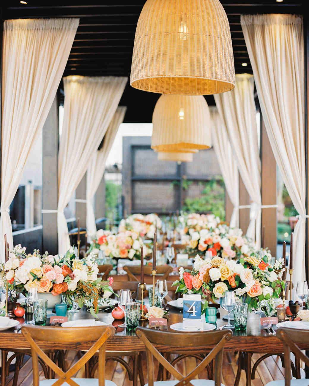 A Table Setup for a Wedding Reception
