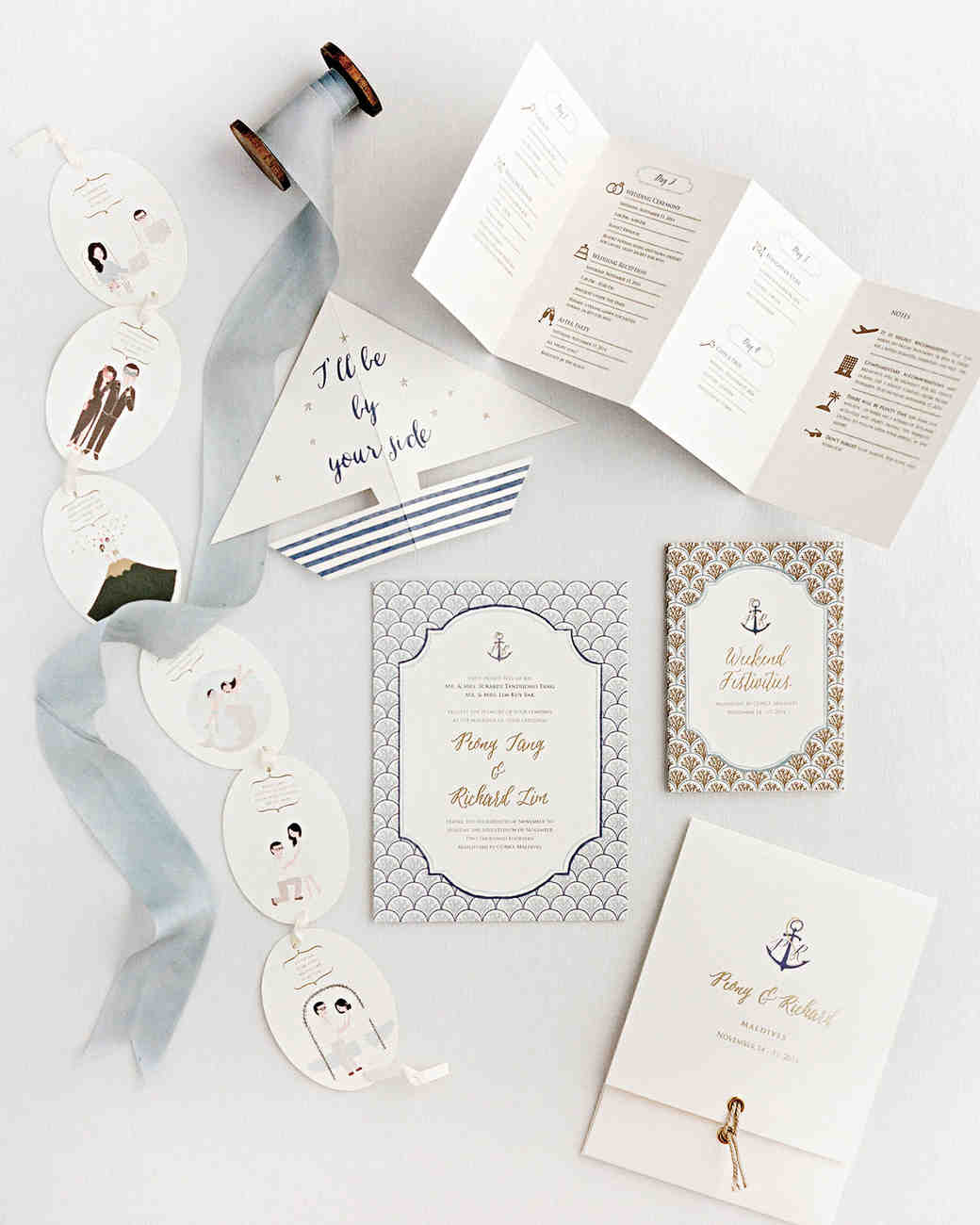 Unique Nautical Wedding Stationery