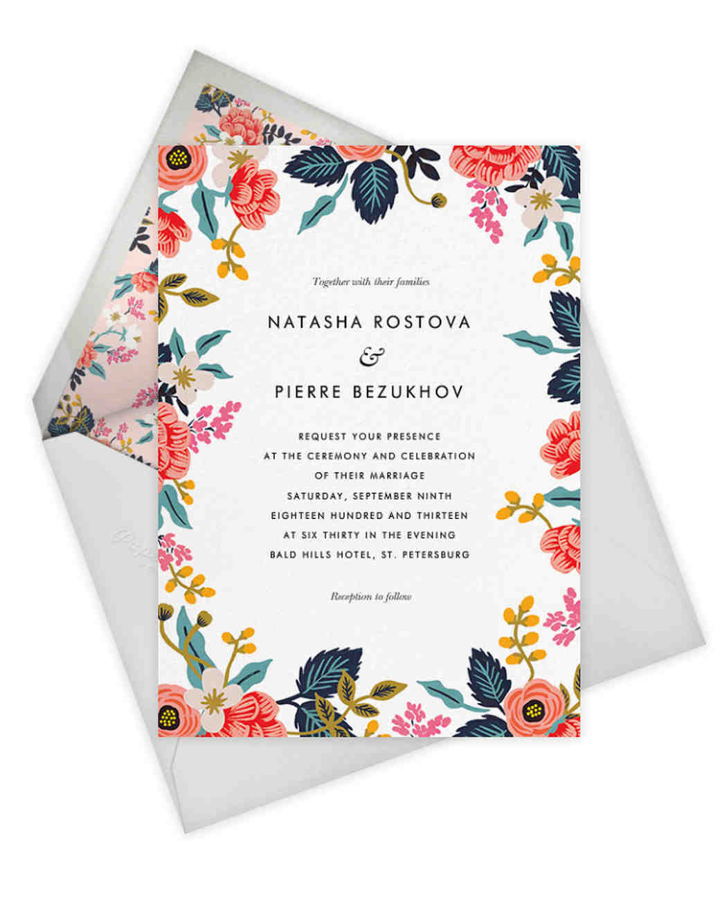 Birch Monarch Invitation