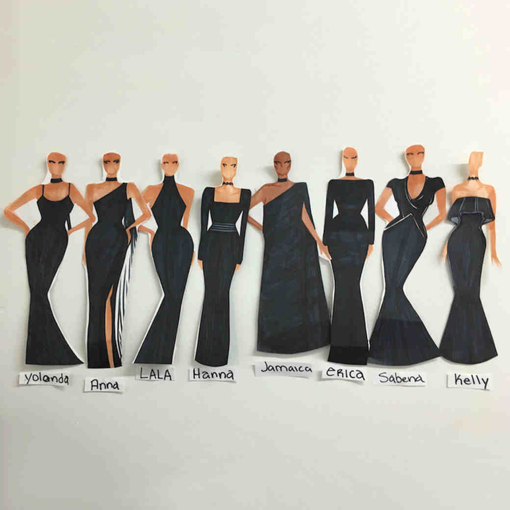 Ciara's Mismatched Bridesmaids' Dresses Were Crazy Chic