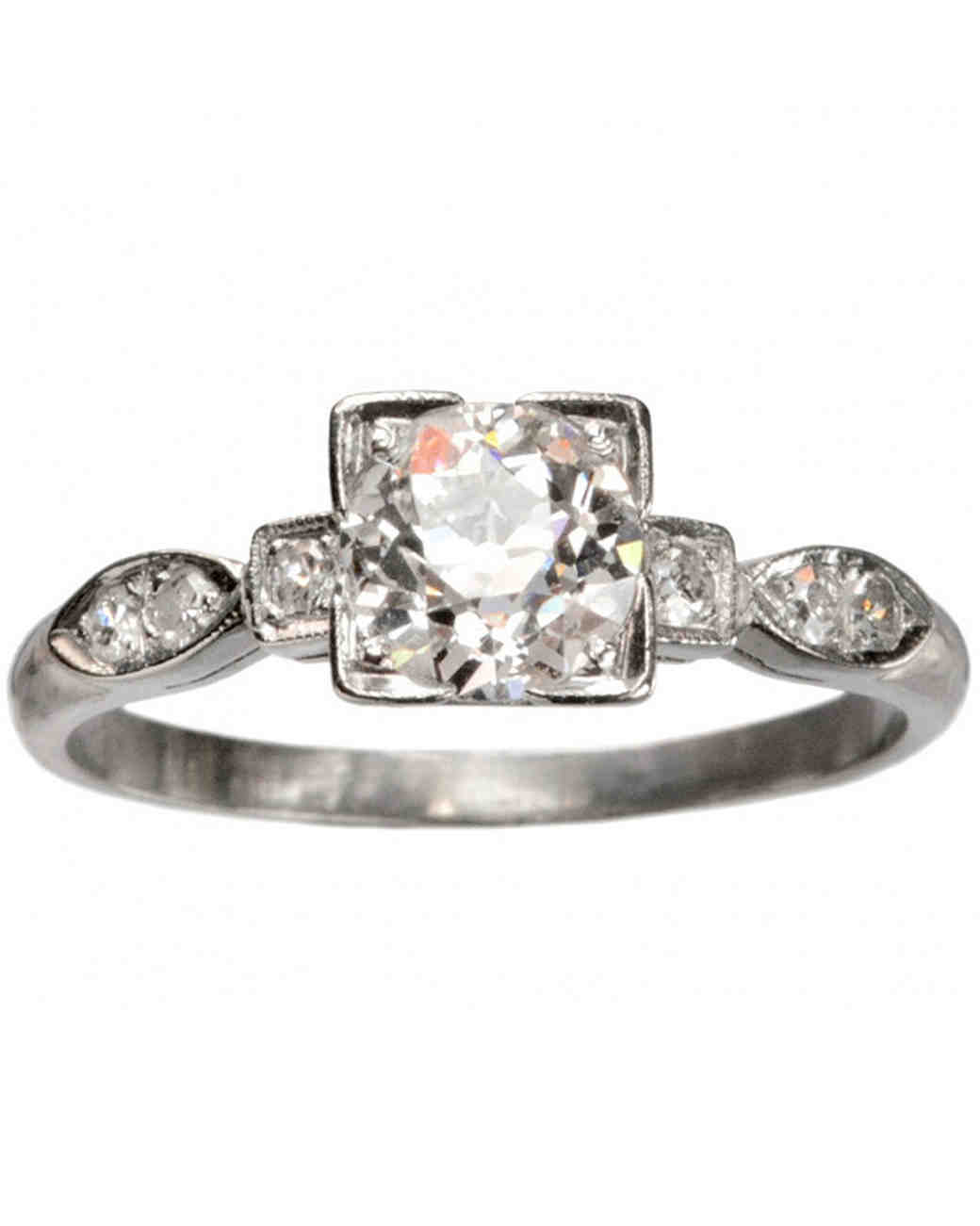 Antique 1930s Art Deco Engagement Ring