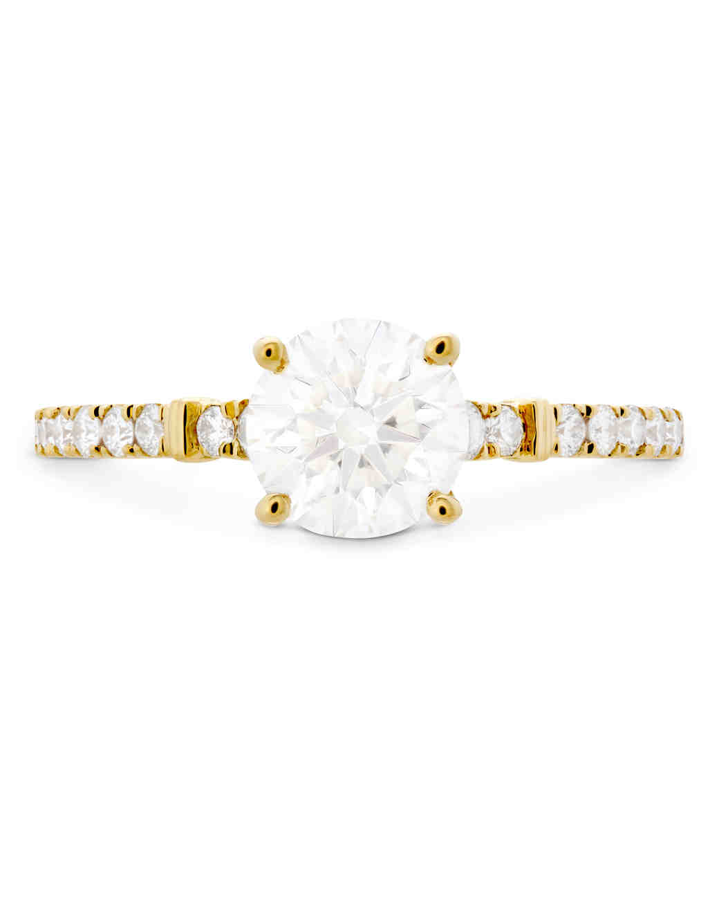 Hearts on Fire Round-Cut Diamond Engagement Ring on Yellow Gold Band