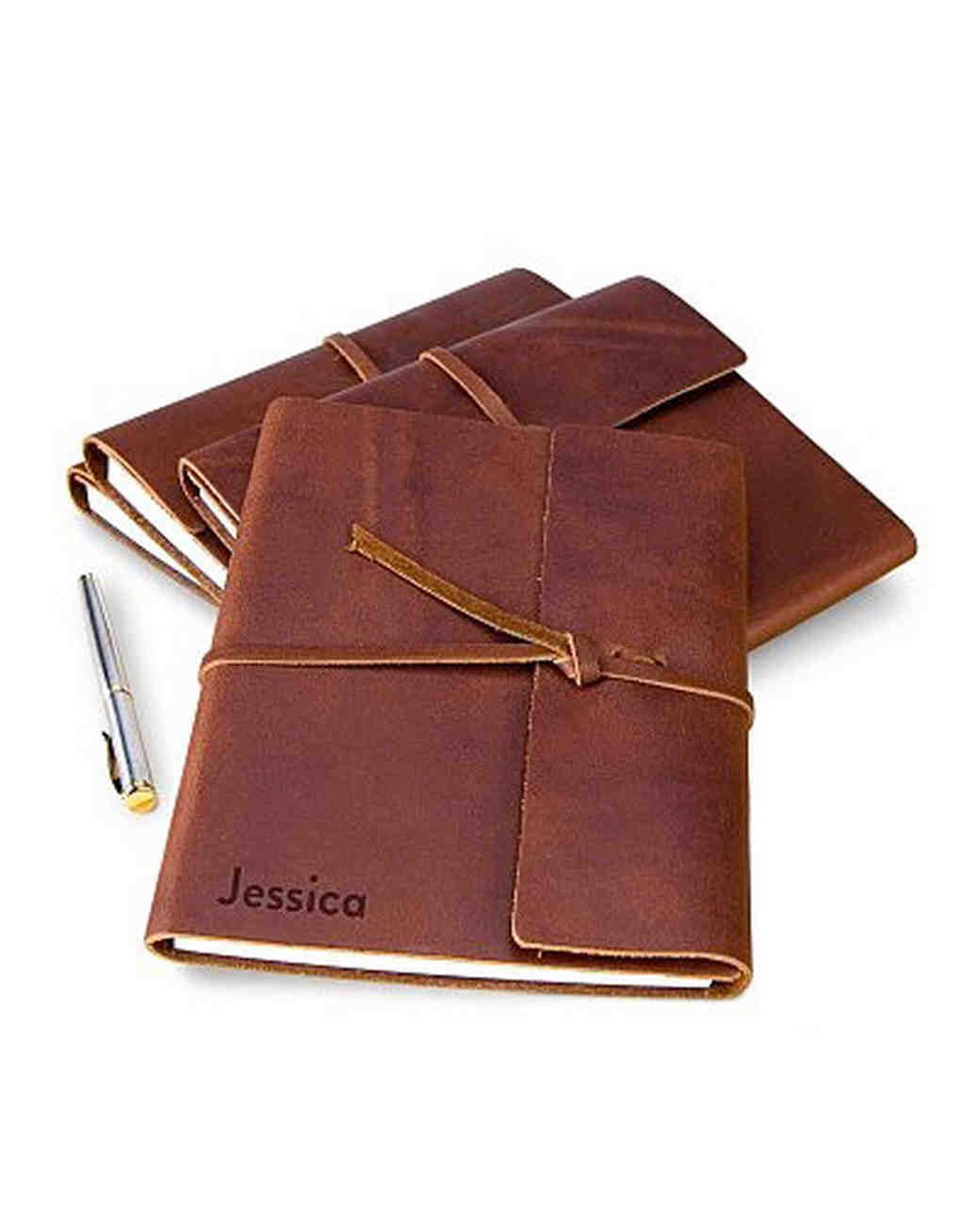personalized embossed fine leather journal