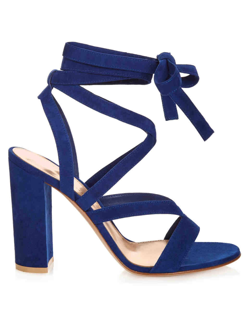 Gianvitto Rossi Suede Sapphire Lace-Up Sandals