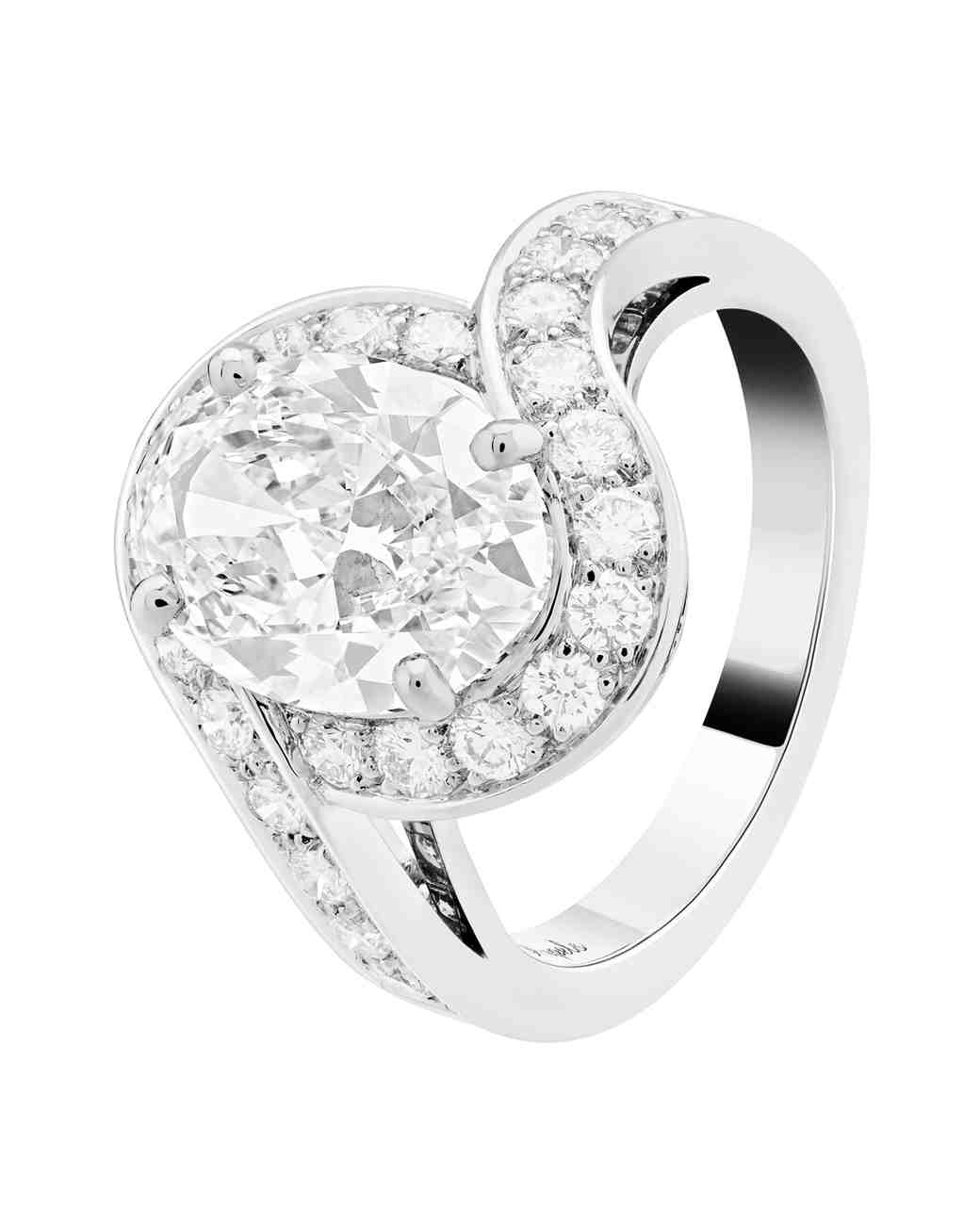 Van Cleef & Arpels White Gold Engagement Ring