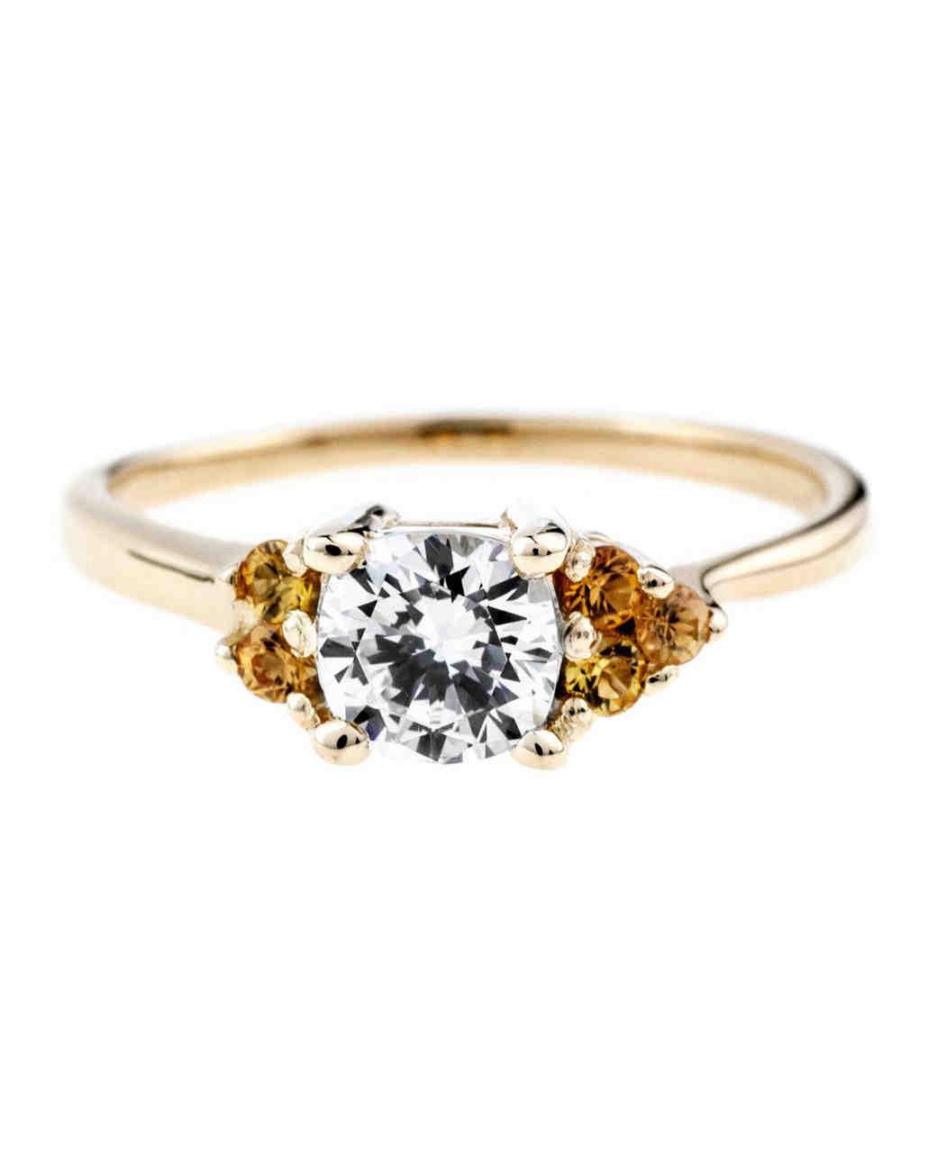 Bario Neal Asymmetrical Avens Ring with Cushion Cut Diamond