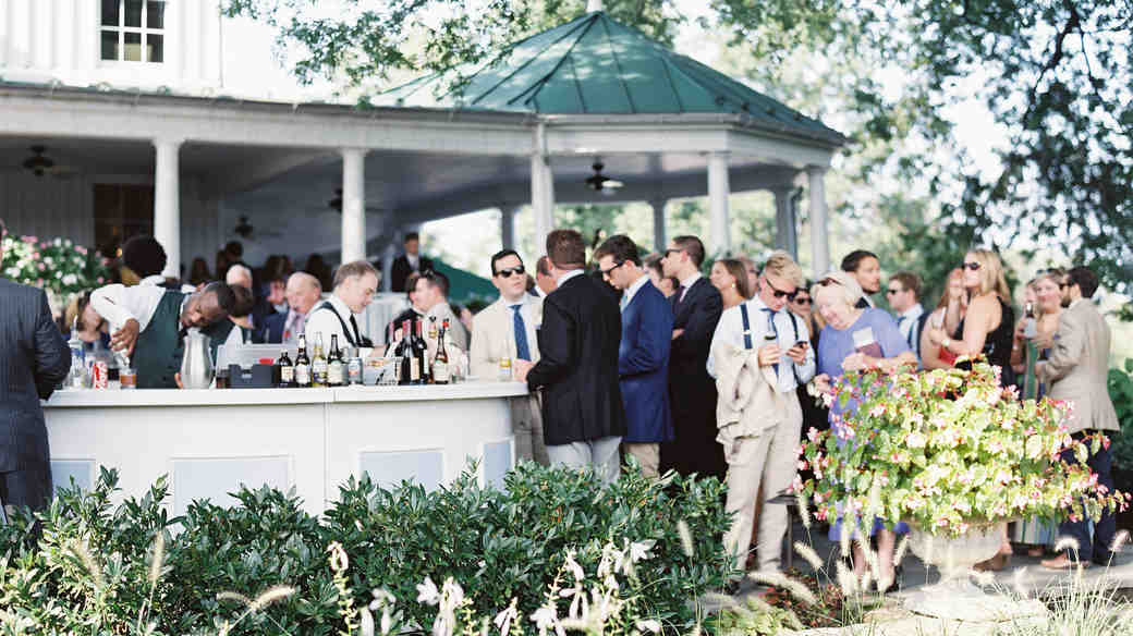 Guests at a Backyard Wedding