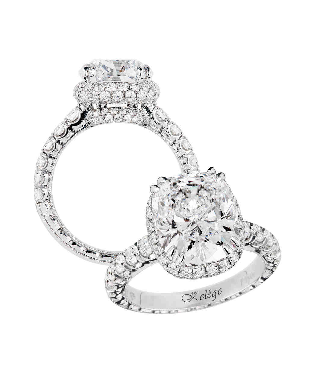 Jack Kelége Cushion- and Round-Cut Diamond Engagement Ring