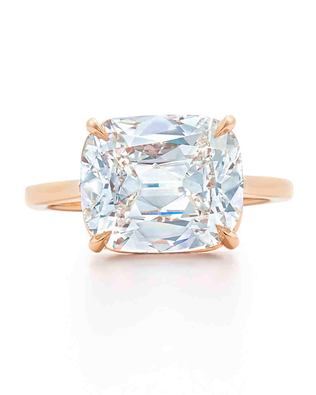 Kwiat Cushion Diamond Ring in Rose Gold
