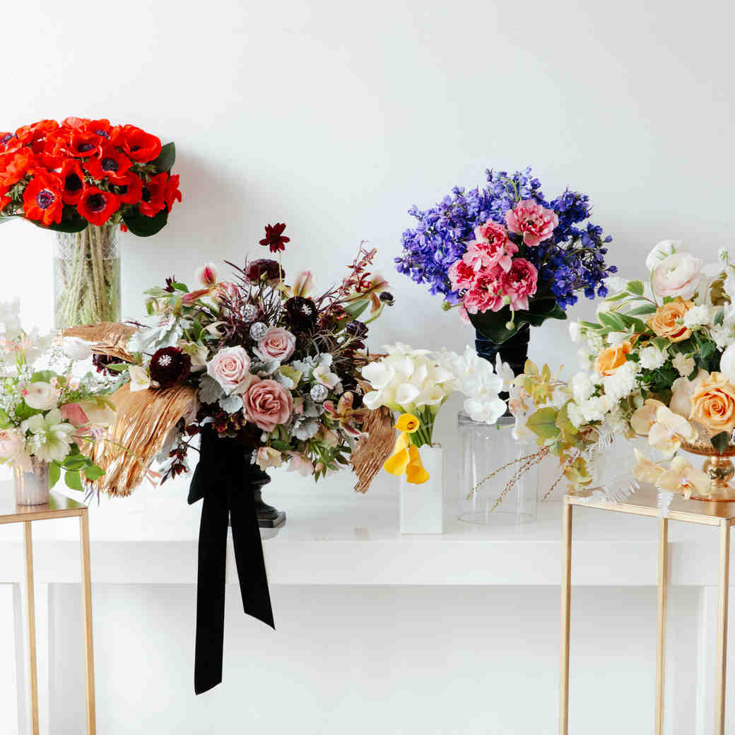 Colorful Floral Arrangements inspired by 2017 Oscar Looks