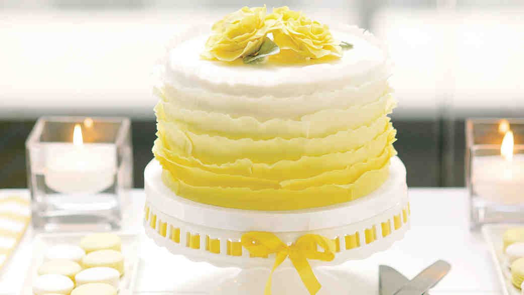 yellow ombré cake