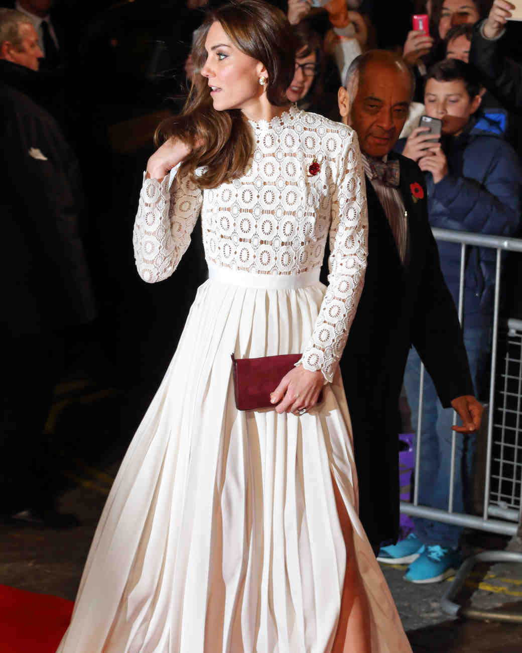 kate middleton white gown