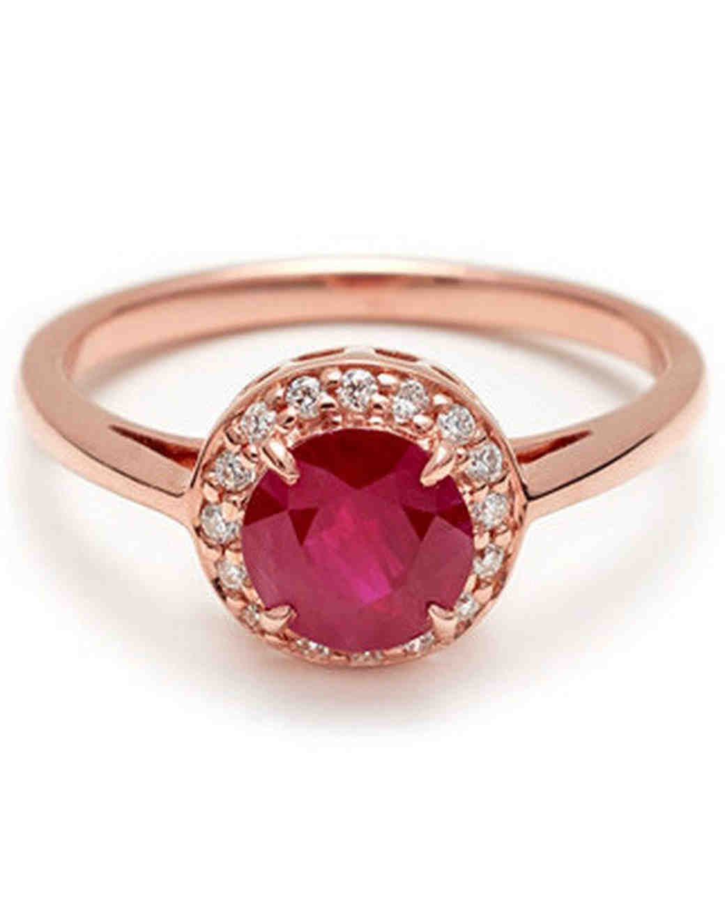Anna Sheffield Round Rosette Ruby Engagement Ring