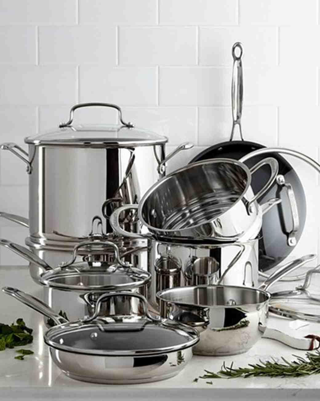 silver cookware set