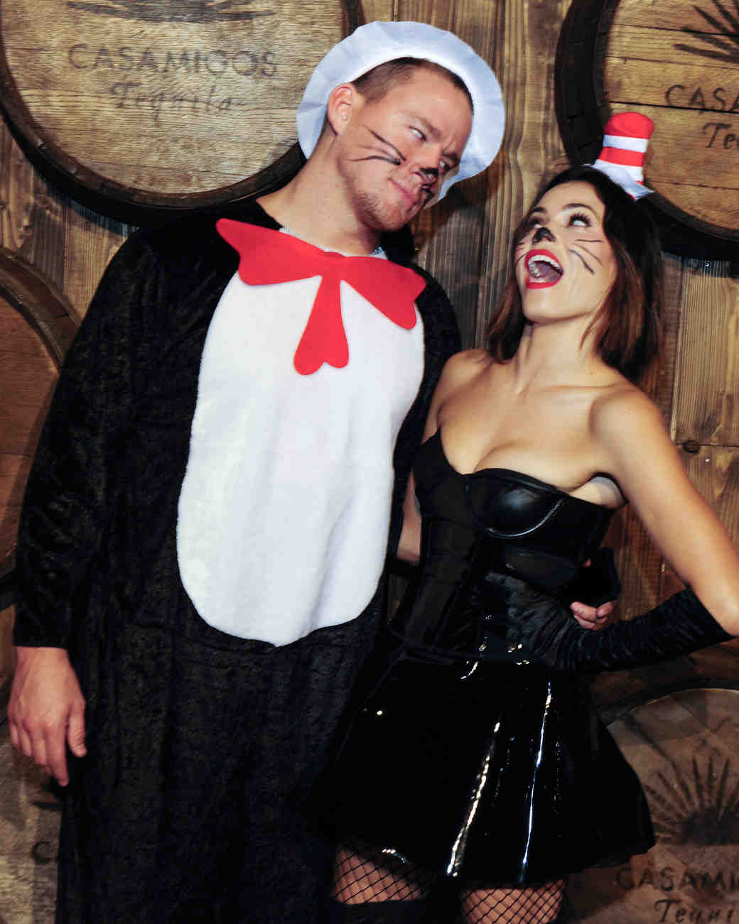 Jenna Dewan Tatum and Channing Tatum in Cat in the Hat Halloween Costumes