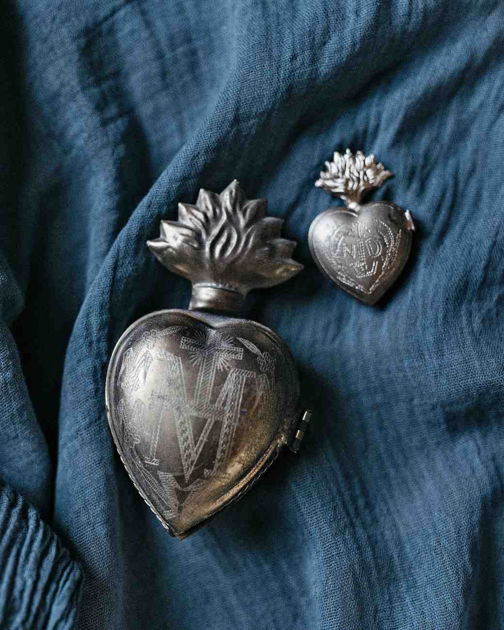 heart votive lockets
