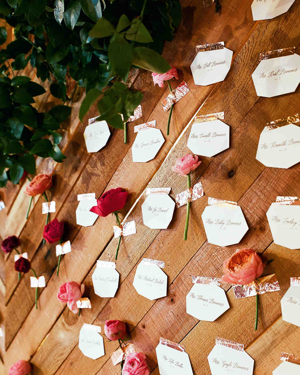 Gem-Shaped Wedding Seating Cards