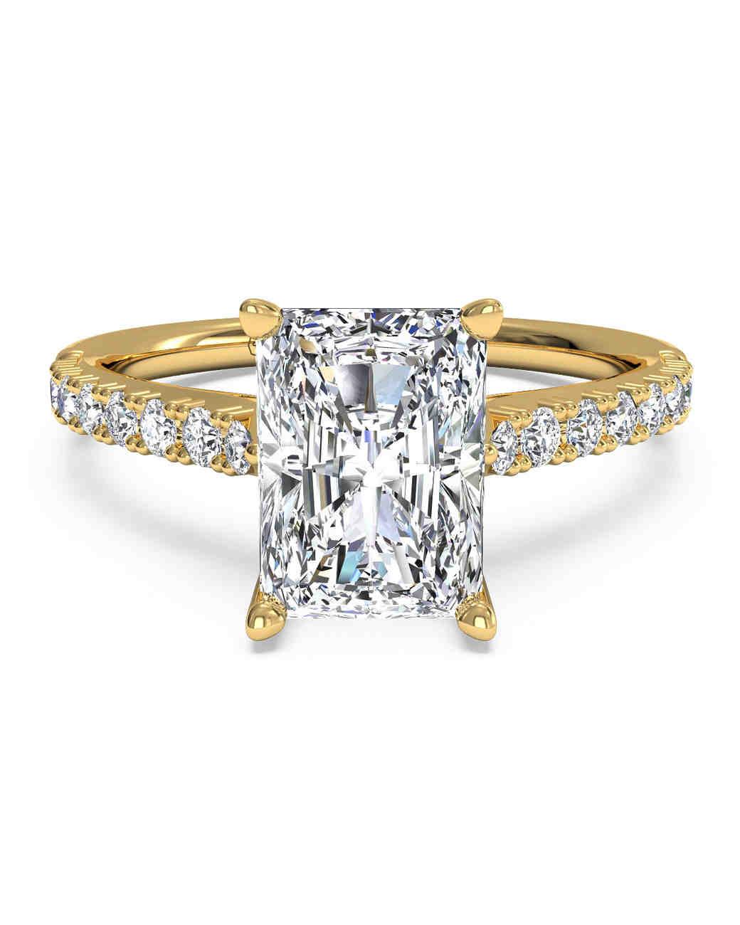 Ritani French-Set Diamond Band Yellow Gold Engagement Ring