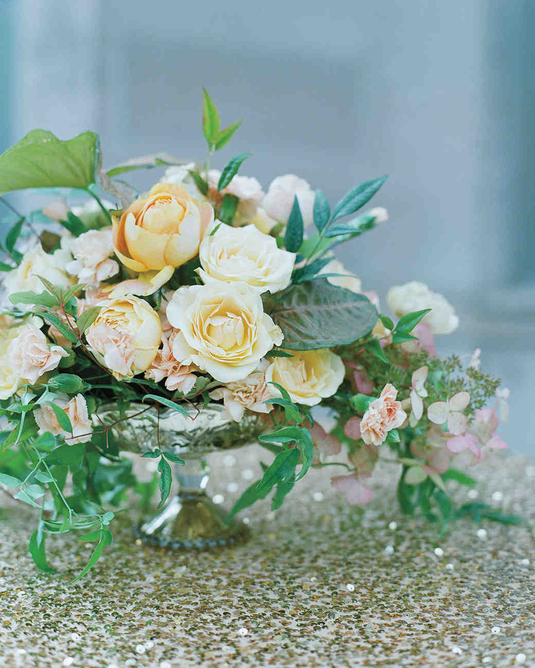 Peachy Wedding Centerpiece