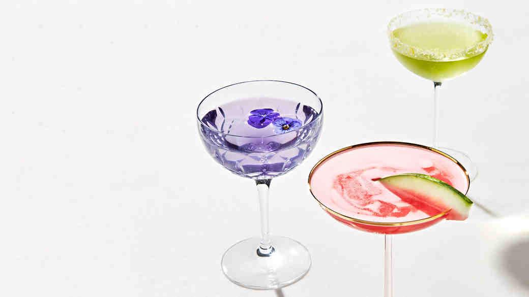 coupe cocktails aviation watermelon flip suze daiquiri