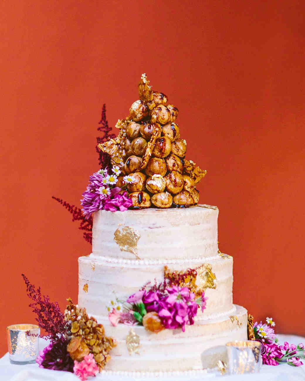 deborah meryl wedding cake croquem bouche