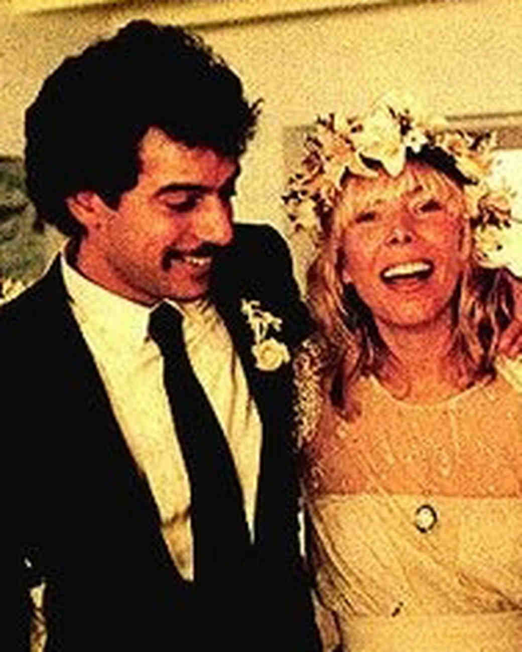 Joni Mitchell and Larry Klein Wedding Photo