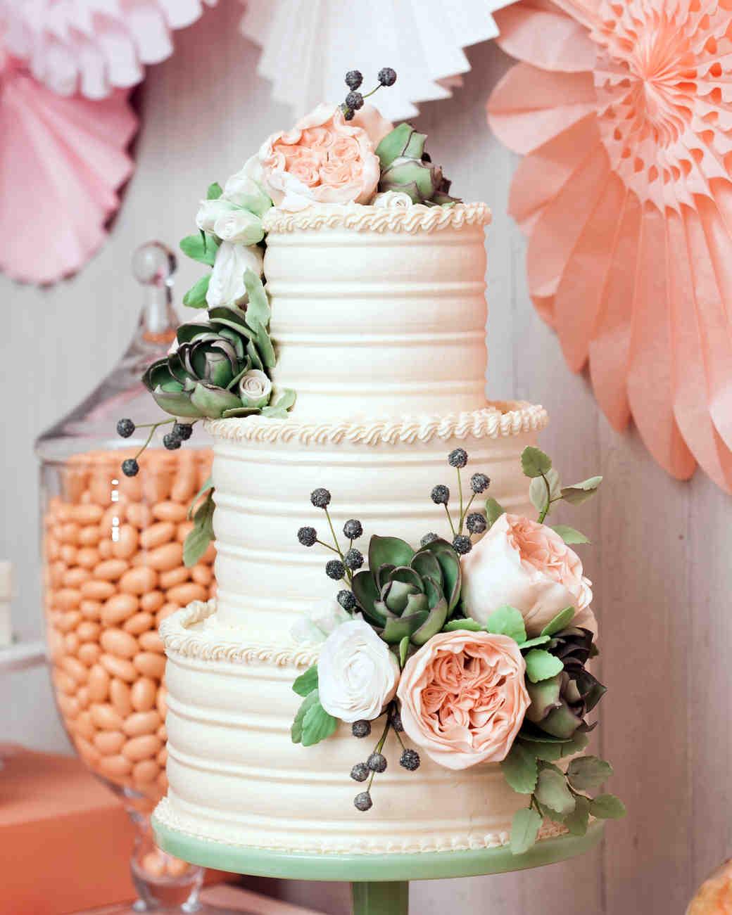 to choosing a frosting for your wedding cake martha stewart weddings