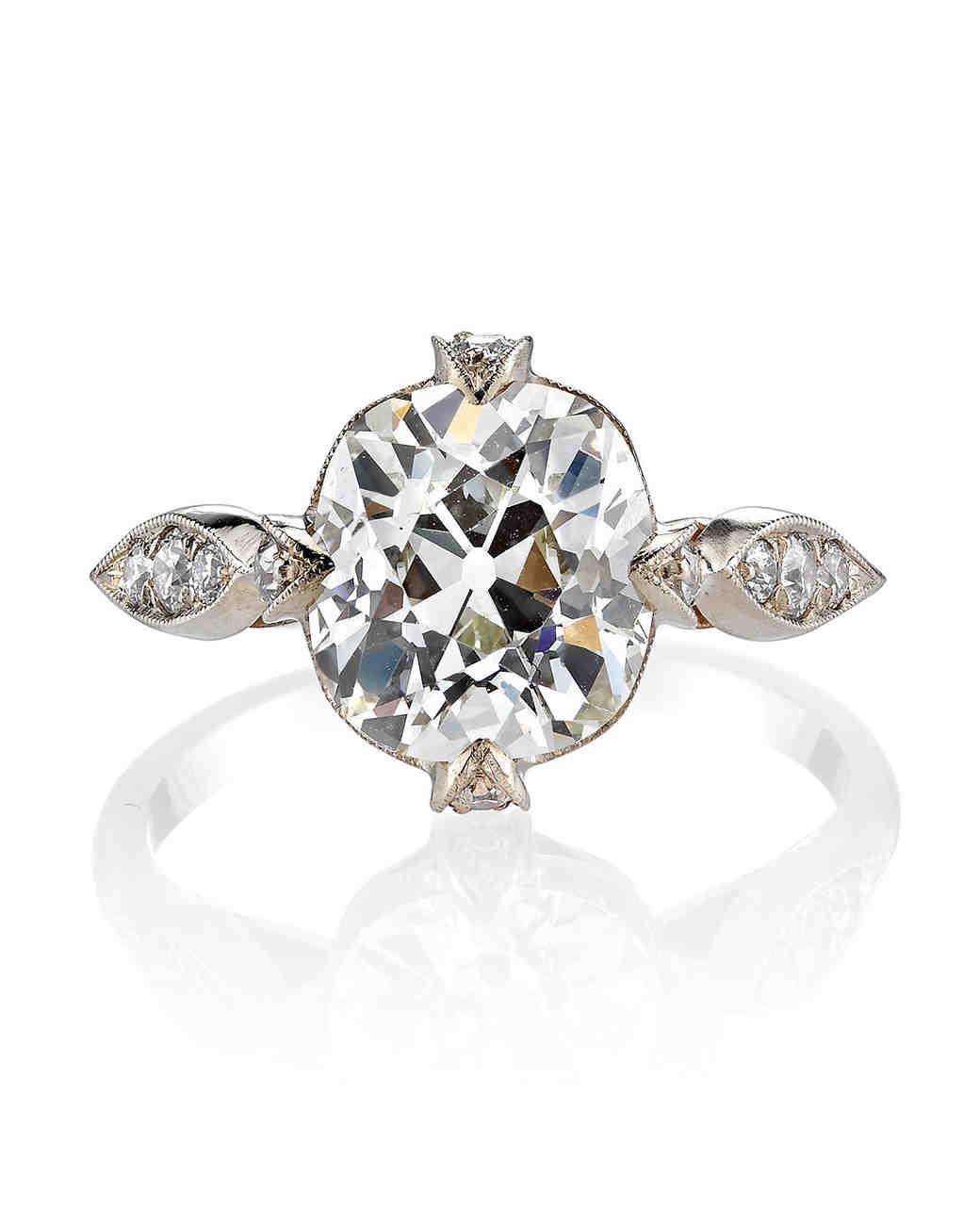 Single Stone Vintage Cushion-Cut Diamond Engagement Ring