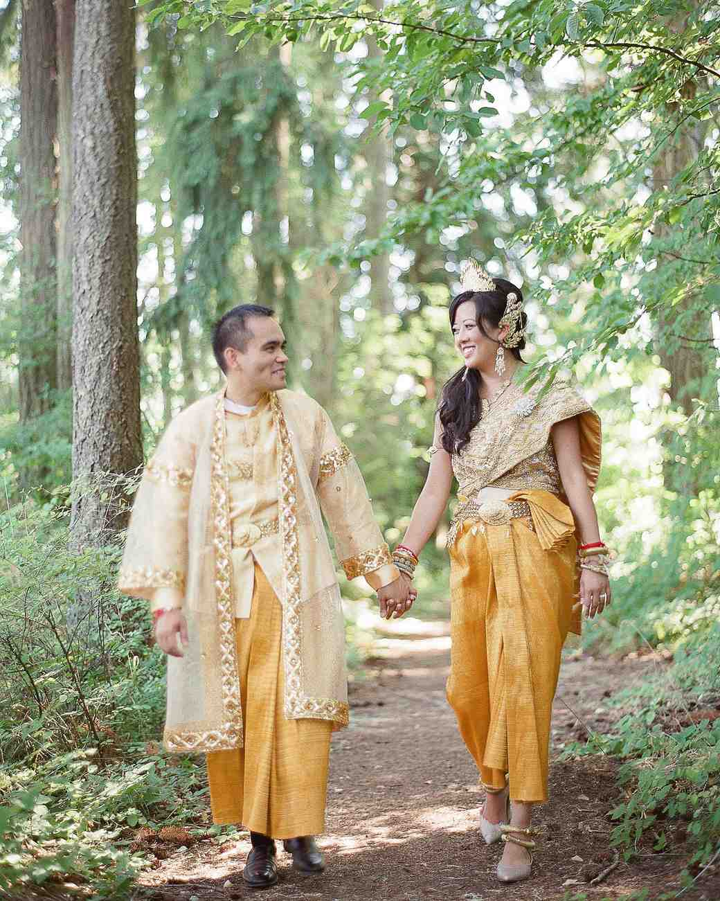 colorful traditional cambodian and chinese wedding in oregon