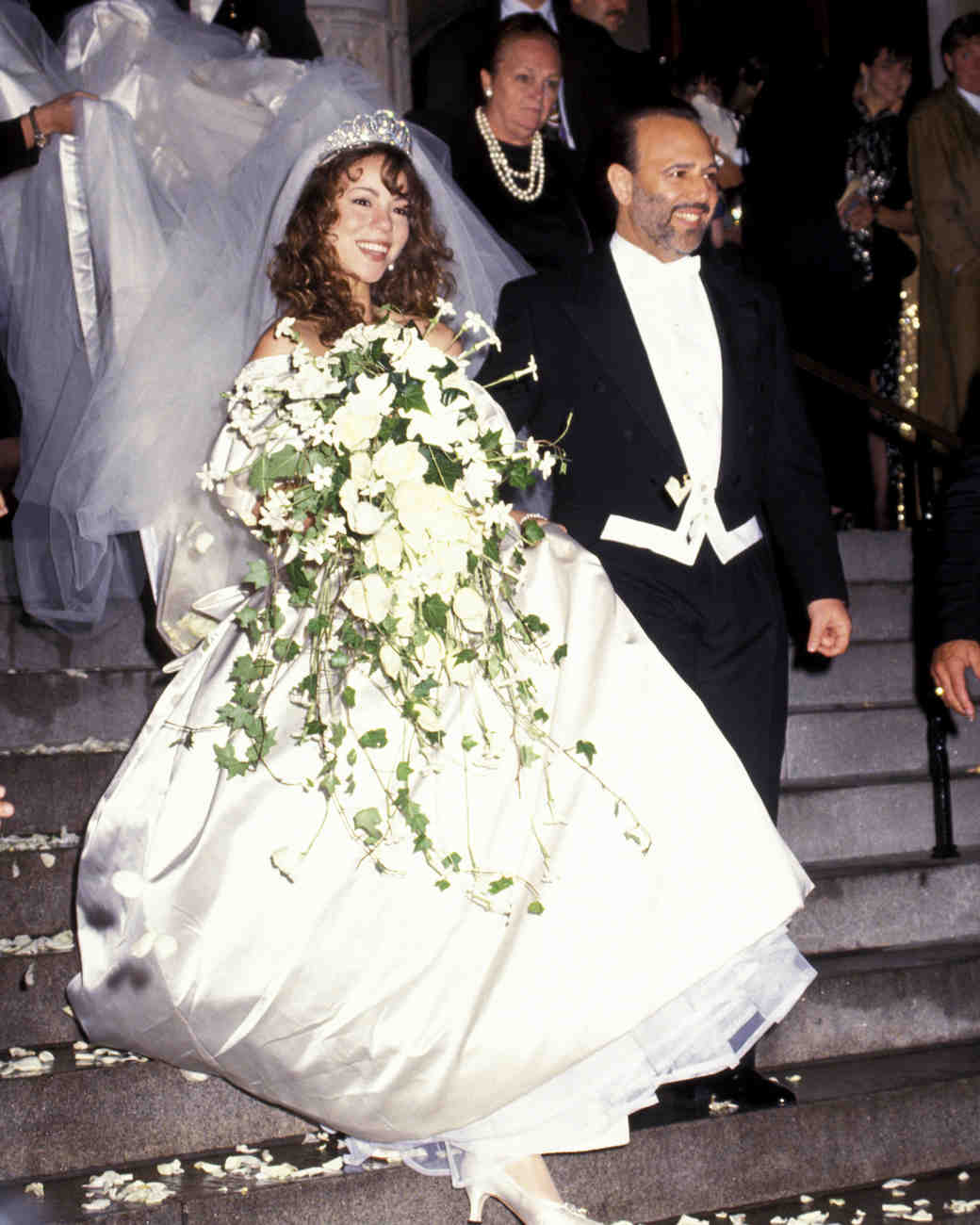 Mariah Carey and Tommy Mottola Wedding Photo