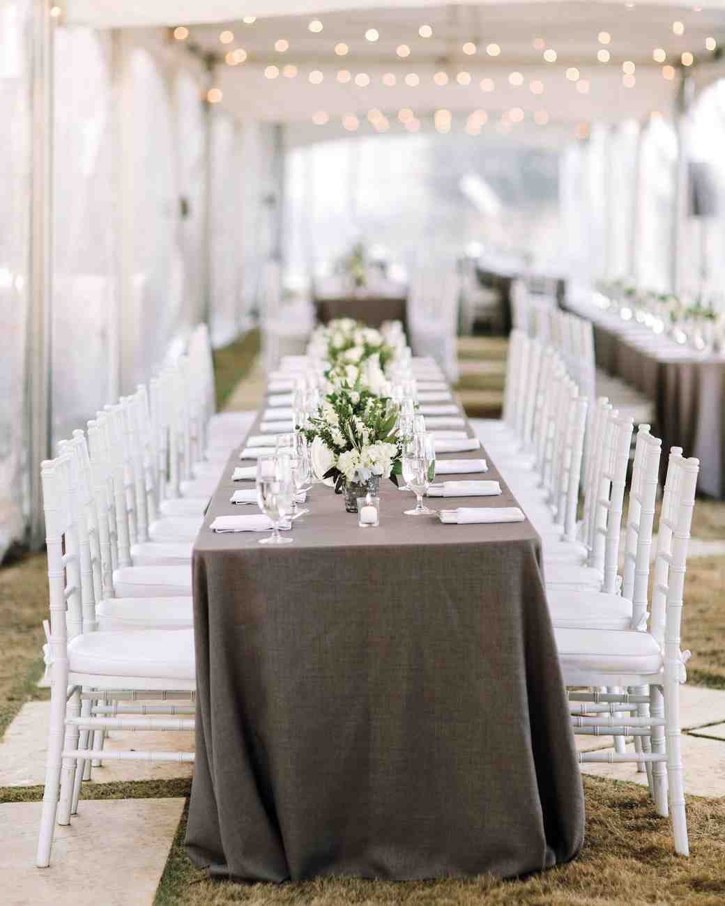 Ideas For Outdoor Wedding Reception Tables: A Winter Wedding At A Villa In Austin