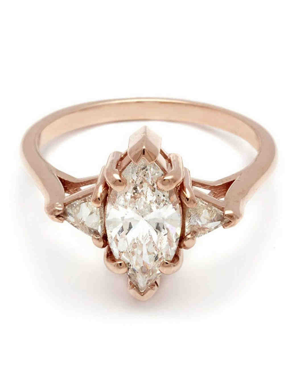 Tacori rose gold engagement ring