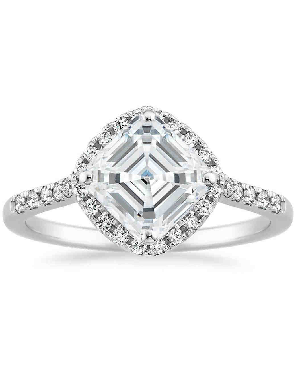 Brilliant Earth Asscher-Cut 18K White Gold Cometa Diamond Engagement Ring