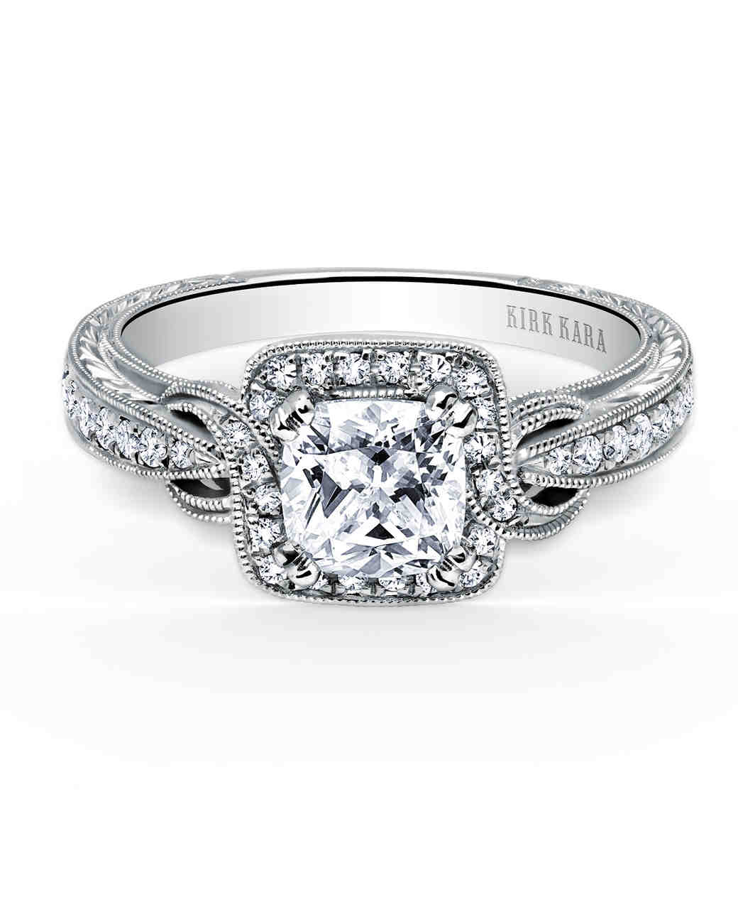 Kirk Kara Pirouette Cushion-Cut Diamond Engagement Ring
