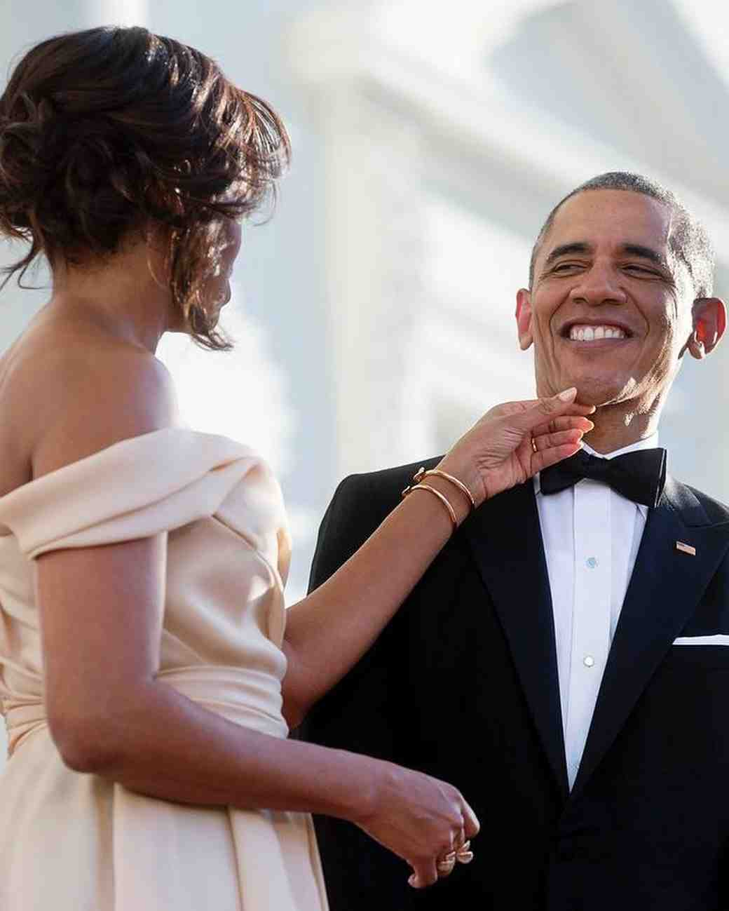 Michelle and Barack Obama at Singapore State Dinner, 2016