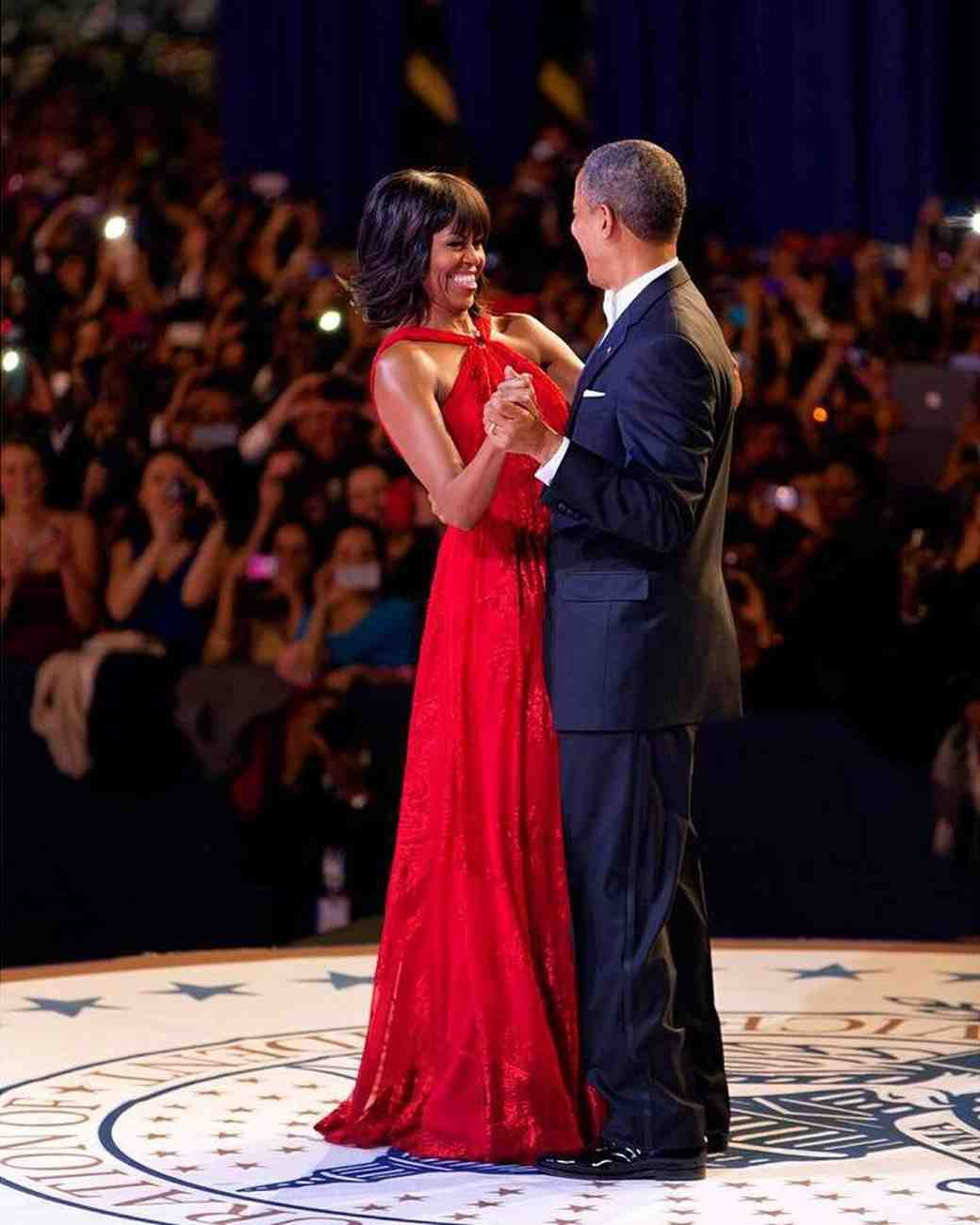 Michelle and Barack Obama Dancing at 2013 Inaugural Ball