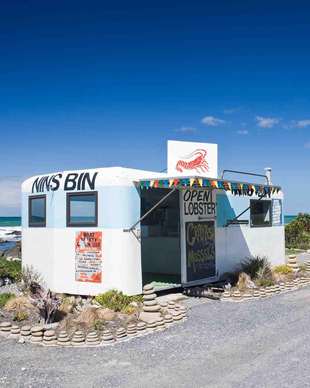 new zealand kaikoura nins bin seafood shack