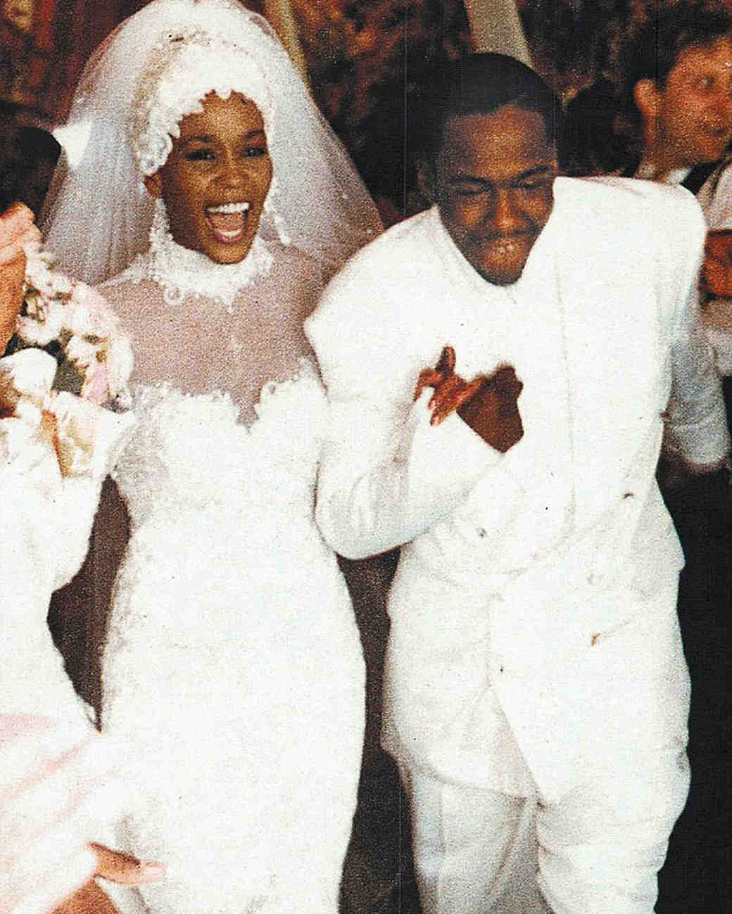 Whitney Houston and Bobby Brown Wedding Photo